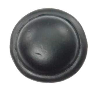 3/4 Inch Solid Pewter Button Style Knob (Matte Black Finish)