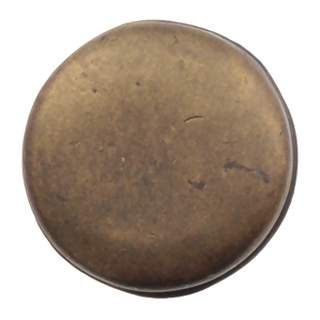 1 1/4 Inch Solid Pewter Pompeii Large Plain Knob Rubbed Bronze Finish