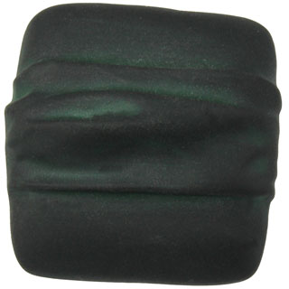 1 1/4 Inch Solid Pewter Square Knob (Black Verde Wash Finish)