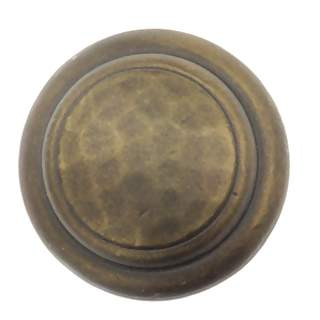 1 1/4 Inch Solid Pewter Round Knob (Bronze Rubbed Finish)