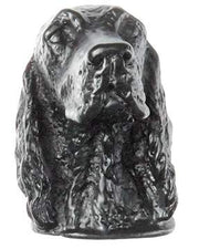 2 Inch Solid Pewter Irish Setter Dog Knob (Matte Black Finish)