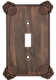 Oceanus Shell Wall Plate (Antique Copper Finish)