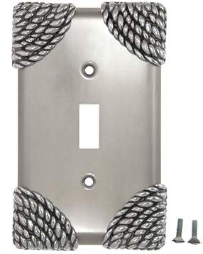 Roguery Ropes Wall Plate (Bright Nickel Finish)