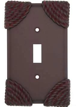 Roguery Ropes Wall Plate (Weathered Rust Finish)