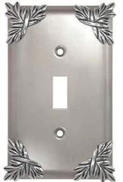 Sonnet Leaf Wall Plate (Bright Nickel Finish)