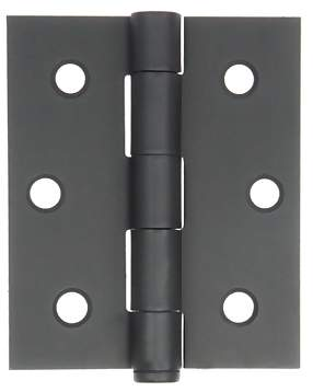 2 1/2 Inch by 3 Inch Surface Hinge (Forged Black Iron)
