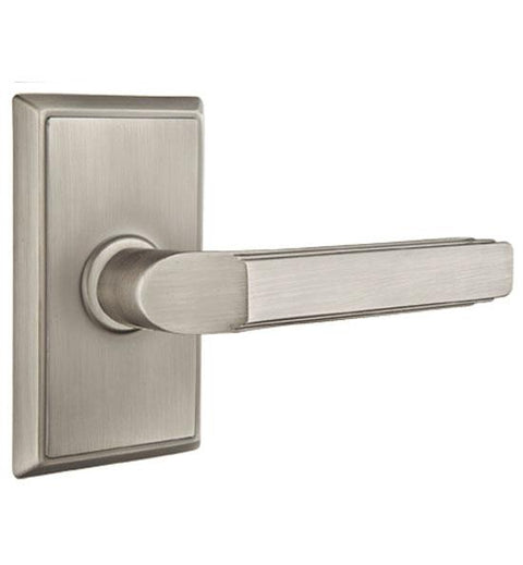 Solid Brass Milano Lever With Rectangular Rosette