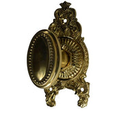 Beaded Oval Ornate Victorian Door Knob Set