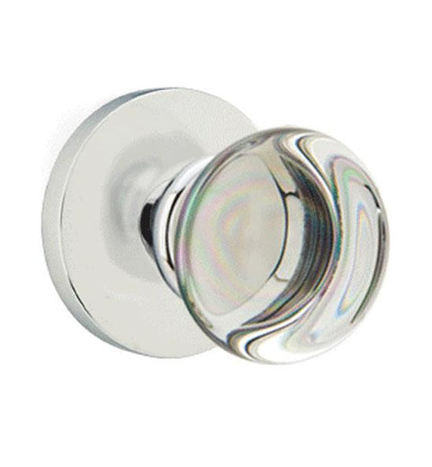 Providence Crystal Emtek Door Knob Set With Disc Rosette