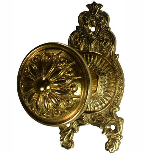 Beaded Provincial Style Ornate Victorian Door Knob Set