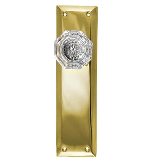 Providence Crystal Door Knob With Quaker Style Backplate