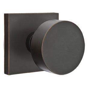Emtek 510ROU Round Door Knob Set from the Brass Modern Collection