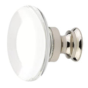 1 3/8 Inch Clear Crystal Glass Providence Cabinet & Furniture Knob