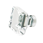 1 3/8 Inch Clear Crystal Glass Lido Cabinet & Furniture Knob