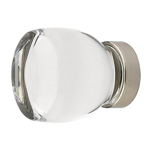 1 1/8 Inch Clear Crystal Glass Juneau Cabinet & Furniture Knob