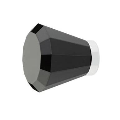 1 Inch Black Colored Crystal Glass Brookmont Cabinet & Furniture Knob