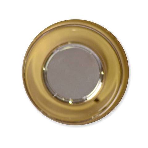 (Several Finish Options) Round Crystal Disc Door Knob with Classic Plate