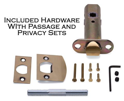Solid Brass Ribbon & Reed Lever With Rectangular Rosette (Many Finishes Available)