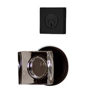 Classic Square Entryway Set with Crystal Square Knob (Several Finishes Available)