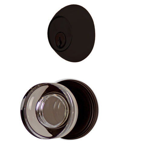 Classic Disc Entryway Set with Crystal Disc Knob (Several Finishes Available)