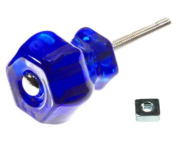 1 1/4 Inch Cobalt Blue Glass Knobs