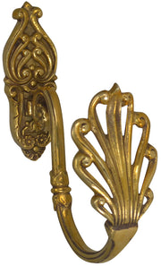 OVERSIZED 7 1/2 Inch Solid Brass Curtain Tie Back-Victorian Style (Polished Brass Finish)