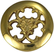 1 1/2 Inch Solid Brass Baroque / Rococo Knob (Polished Brass Finish)