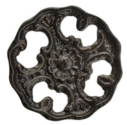 1 1/2 Inch Solid Brass Baroque / Rococo Floral Knob (Oil Rubbed Bronze Finish)