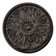 2 Inch Solid Brass Victorian Floral Knob (Oil Rubbed Bronze Finish)