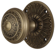 Egg and Dart Door Knob With Feather Rosette