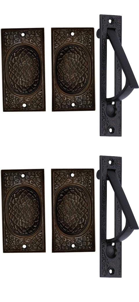 Craftsman Pattern Double Pocket Passage Style Set (Oil Rubbed Bronze)
