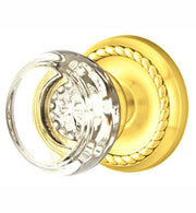 Crystal Georgetown Door Knob Set With Rope Rosette