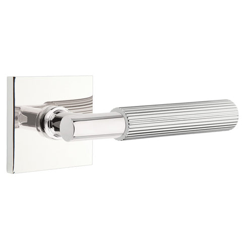 Emtek T-Bar Straight Knurled Lever With Square Rosette (Several Finishes Available)