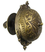 Mechanical Doorbell  Eastlake Style (Antique Brass Finish)