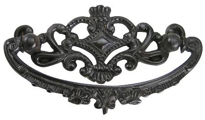 4 1/8 Inch Overall (3 Inch c-c) Solid Brass Ornate Victorian Pull (Oil Rubbed Bronze Finish)