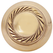 1 1/2 Inch Brass Round Knob with Georgian Roped Border (Polished Brass Knob)