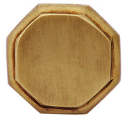 1 5/8 Inch Solid Brass Octagonal Cabinet Knob (Antique Brass Finish)