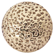 1 1/4 Inch Solid Brass Hand-Hammered Round Knob (Polished Brass Finish)