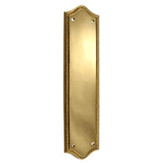 12 Inch Georgian Oval Roped Style Door Push & Plate (Lacquered Brass Finish)