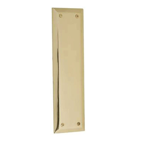 10 Inch Quaker Style Push Plate (Lacquered Brass Finish)