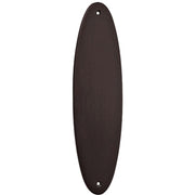 11 Inch Solid Brass Oval Push Plate (Oil Rubbed Bronze Finish)