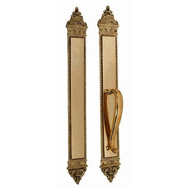 23 3/8 Inch L'Enfant Push and Pull Plate Set (Antique Brass Finish)