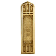 12 1/4 Inch Gothic Push Plate (Polished Brass Finish)