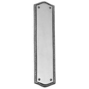12 Inch Georgian Oval Roped Style Door Push & Plate (Polished Chrome Finish)
