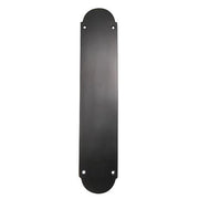 12 Inch Solid Brass Traditional Oval Push Plate (Oil Rubbed Bronze)