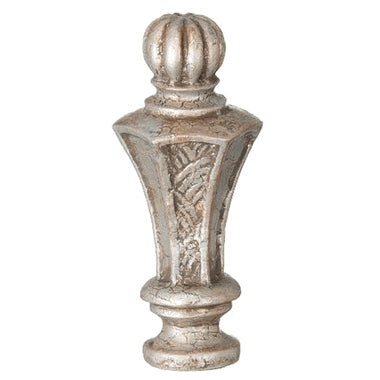 Regent Style Large Lamp Finial (Nickel Finish)