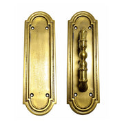 8 3/8 Inch Solid Brass Arched Style Push And Pull Plate (Antique Brass Finish)