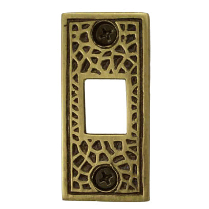 Solid Brass Craftsman Pocket Door Strike Plate (Antique Brass Finish)