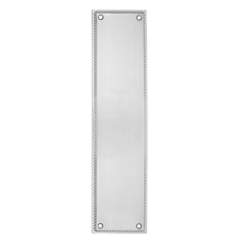 12 Inch Solid Brass Knoxville Push Plate (Polished Chrome Finish)