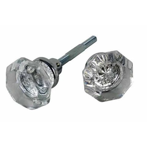 Providence Octagon Door Knobs in a Polished Chrome Finish - Spare Set with Spindle